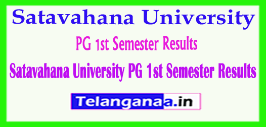 Satavahana University PG 1st Semester Results 2018