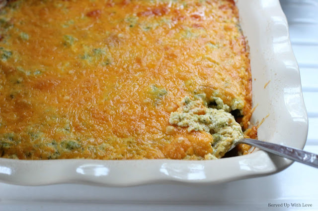 Broccoli Casserole recipe from Served Up With Love