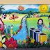 Bancamérica auspicia mural con material reciclado