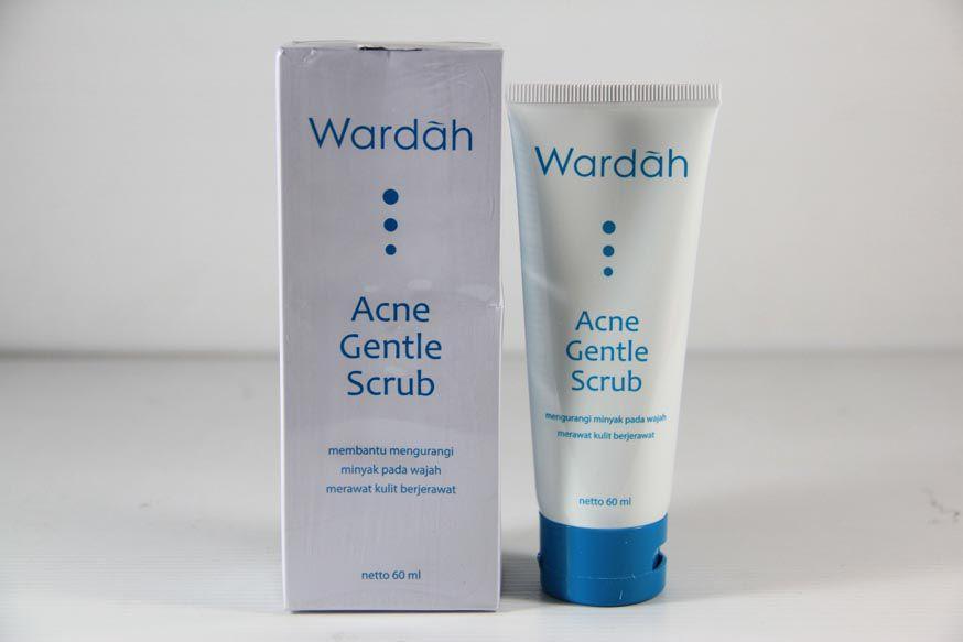 Wardah Acne Gentle Scrub Produk Wardah Untuk Menghilangkan Bopeng Bekas Jerawat
