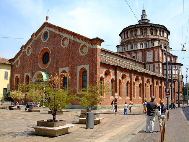 Santa Maria della Grazie—home to one of art history's most significant and splendid masterpieces of all time—Leonardo's 'Last Supper.' Photo: WikiMedia.org.