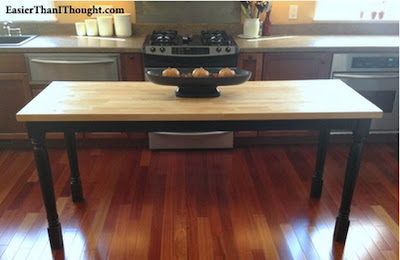 Dining Table to Butcher Block Island