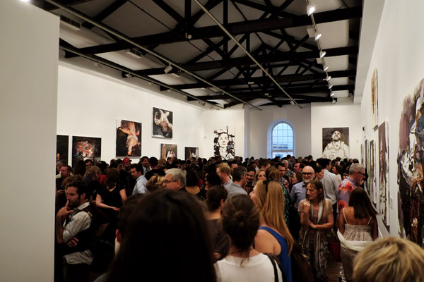 Gallery crowd, main hall, 'After Afghanistan' NAS Gallery 2013