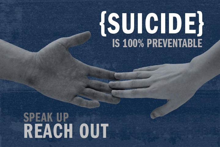 Suicide prevention day: Suicide is 100% preventable. Reach out