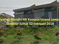 Bank Syariah Mandiri - Padang sd 02 Februari 2018 (Kampus Unand)