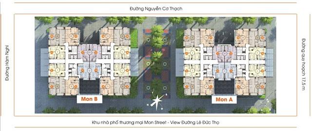 Hai tòa chung cư và các con đường