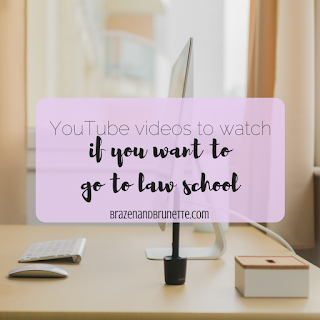 11 law school video bloggers from YouTube to watch before law school | brazenandbrunette.com