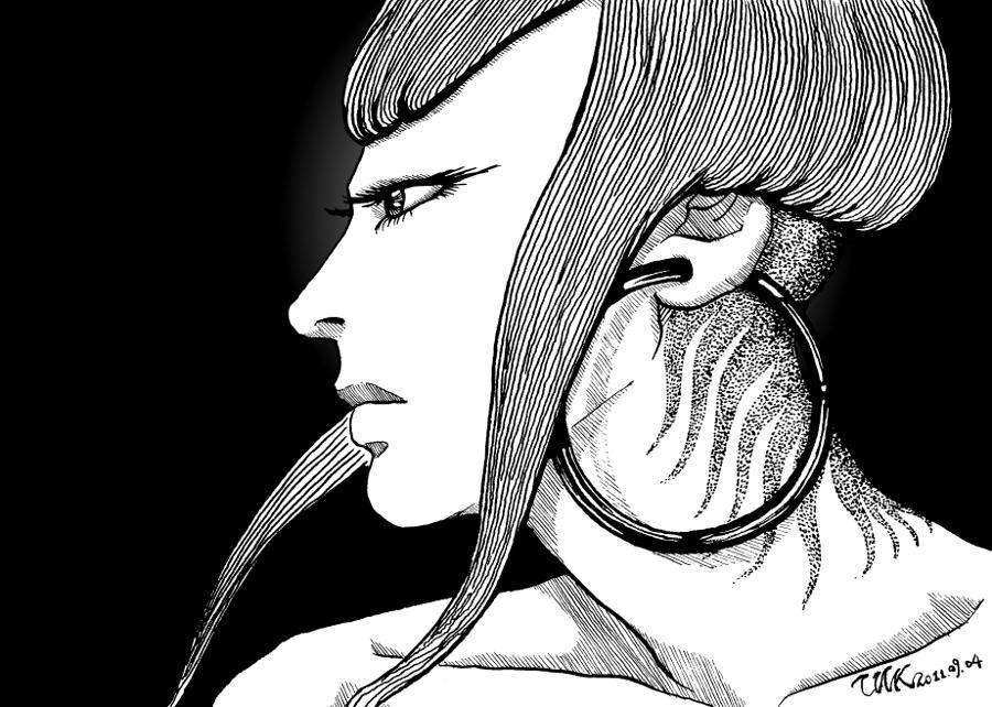 THK: [畫] Ijuin Ryoko 側臉