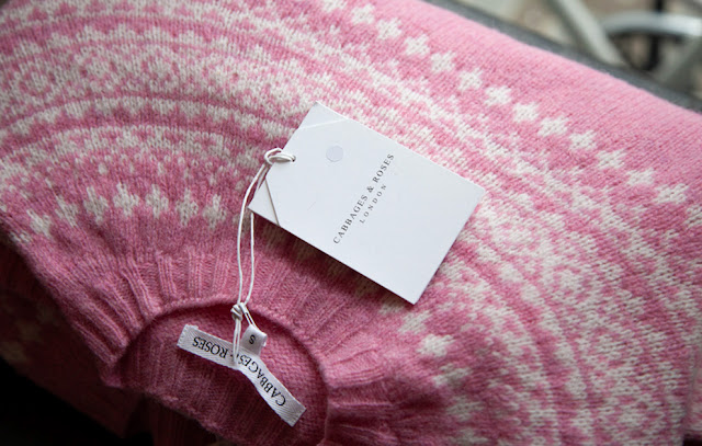 Sherbet Fair Isle Sweater in Pink