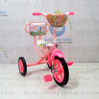 Sepeda Roda Tiga BMX Arava Alfrex Cat Sandaran Pink