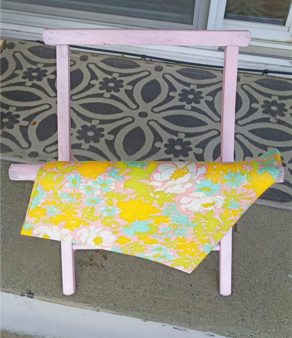 vintage camp stool makeover