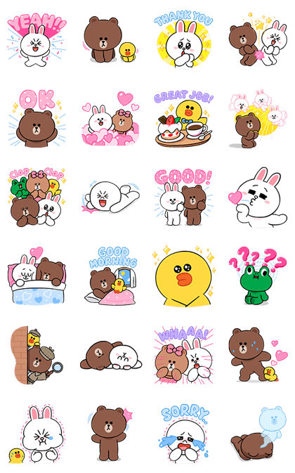 LINE Characters: Cute and Soft