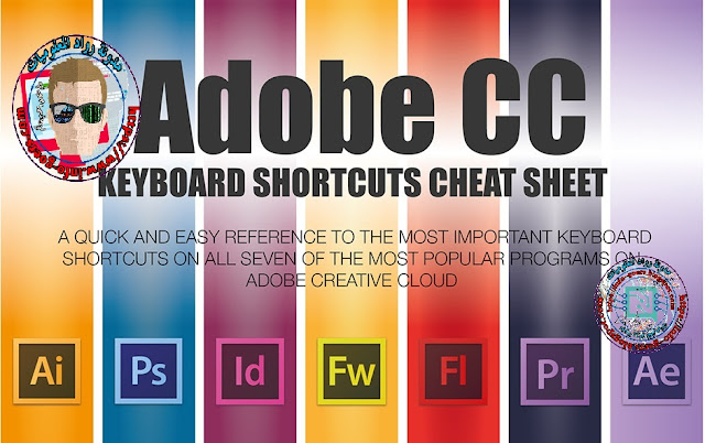 ADOBE CC KEYBOARD SHORTCUTS IN PRINTABLE HD PDF & JPG FORMATS