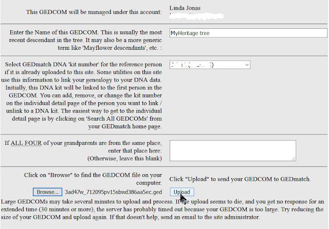 upload GEDCOM file to GEDmatch