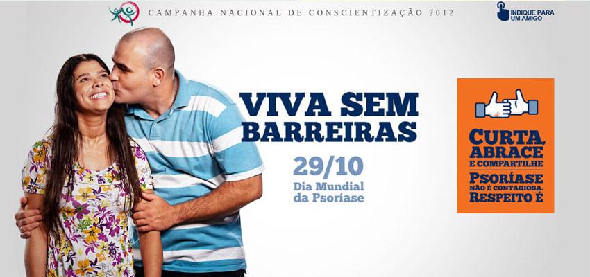 Campanha Viva Sem Barreiras, da Sociedade Brasileira de Dermatologia (SBD), no Dia Mundial da Psoríase