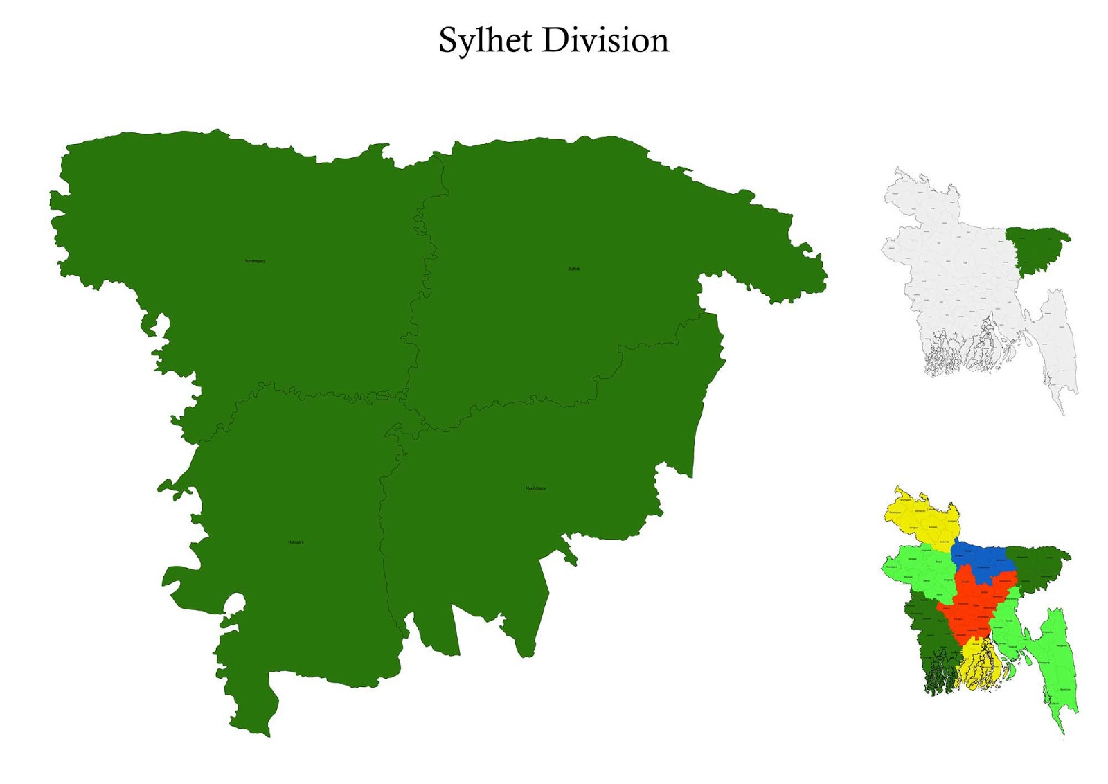 Sylhet division bangladesh map information tourism directory map sylhet division map bangladesh gumiabroncs Images