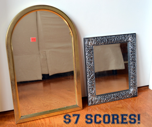 $7 Mirrors goodwill finds make great anchor pieces, Mirror Gallery Wall Inspiration | DIY Playbook