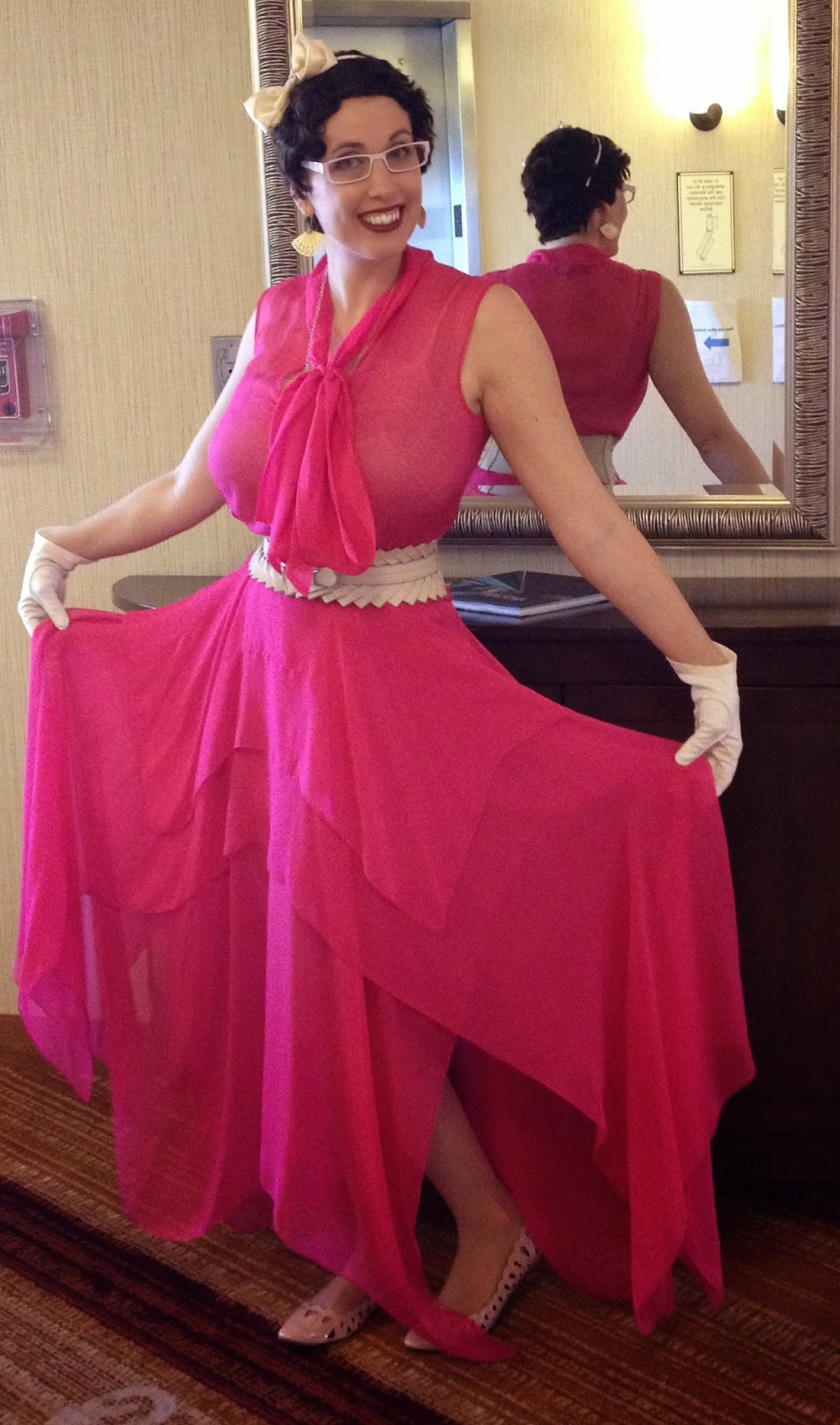 Mesa Arizona in a Pink Gown at LepreCon