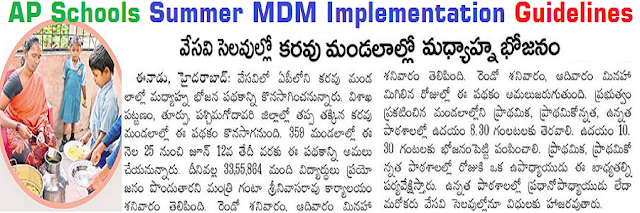 AP Schools,Summer MDM,implementation guidelines