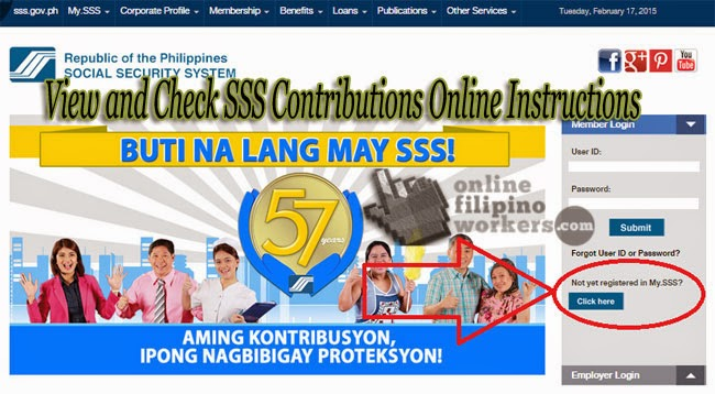 how to see sss contribution online