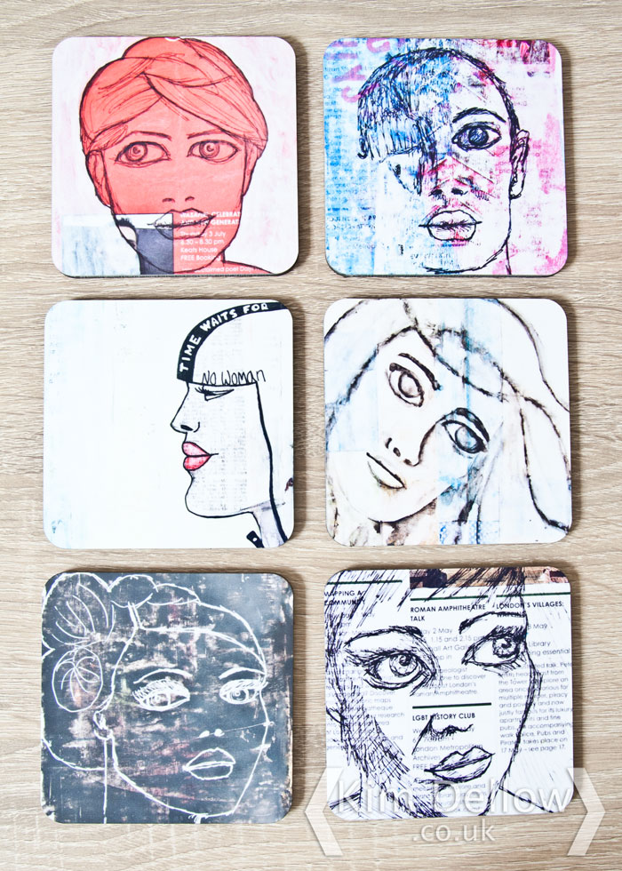 Show Your Face Coasters printed by Snapfish