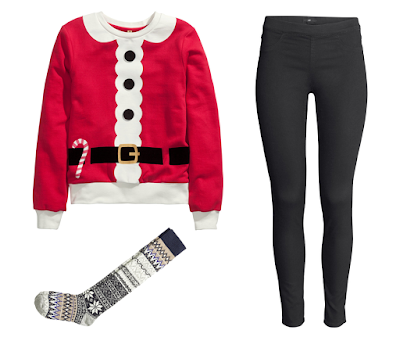 Holiday Outfit H&M Christmas Santa