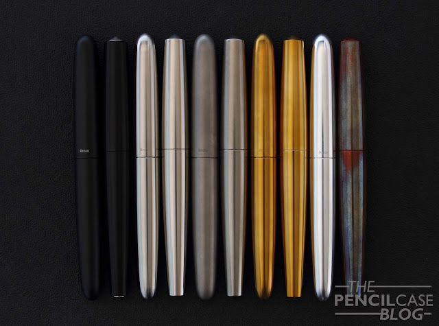 Ensso Piuma raw Al & stonewashed Ti fountain pen review