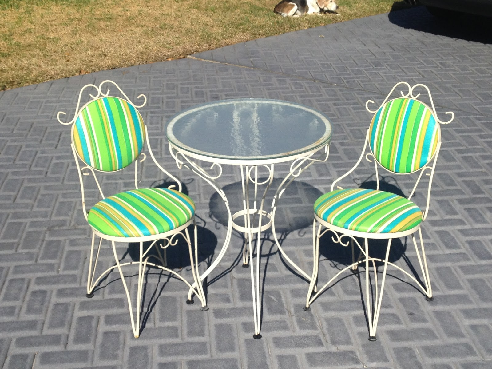 This Bistro Set Is Much More Size Ropriate And With The Addition Of Table It S Likely To Get Used