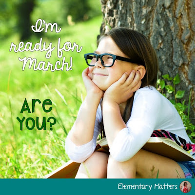 I'm ready for March, are you? Ideas, resources and a freebie to get you going for the month of March in the primary classroom.