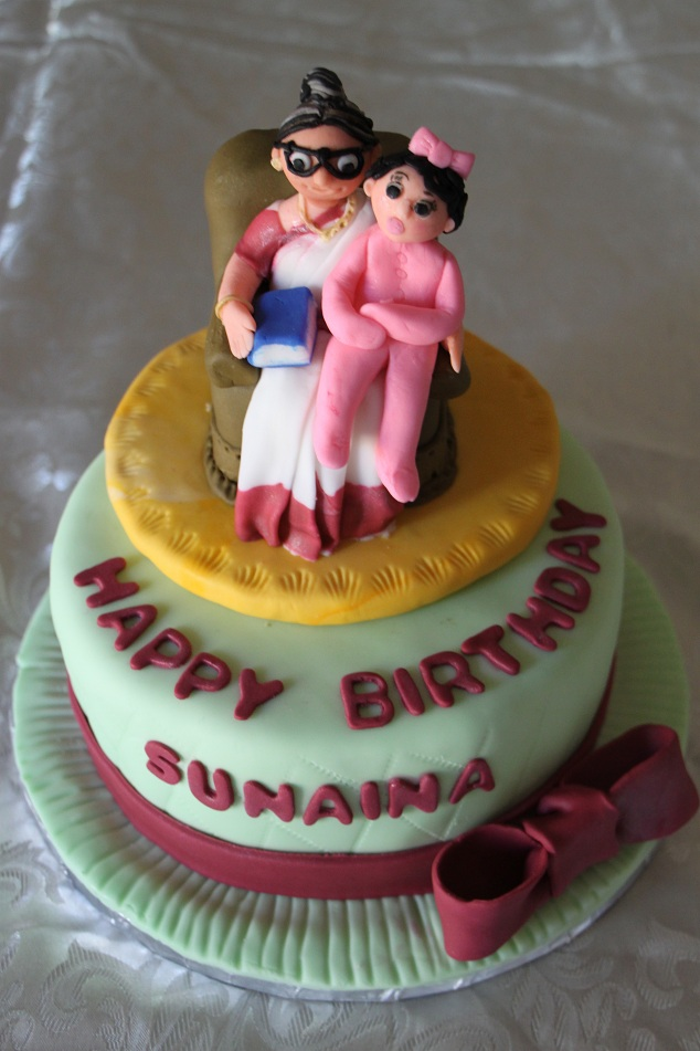 Dhanya S Delights Indian Grandma And Baby Cake