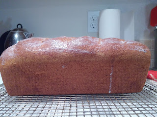 Dinner in the Life of a Dad—The BEST Low-Carb Bread Ever!!! Side view of the loaf after brushing with buttermilk