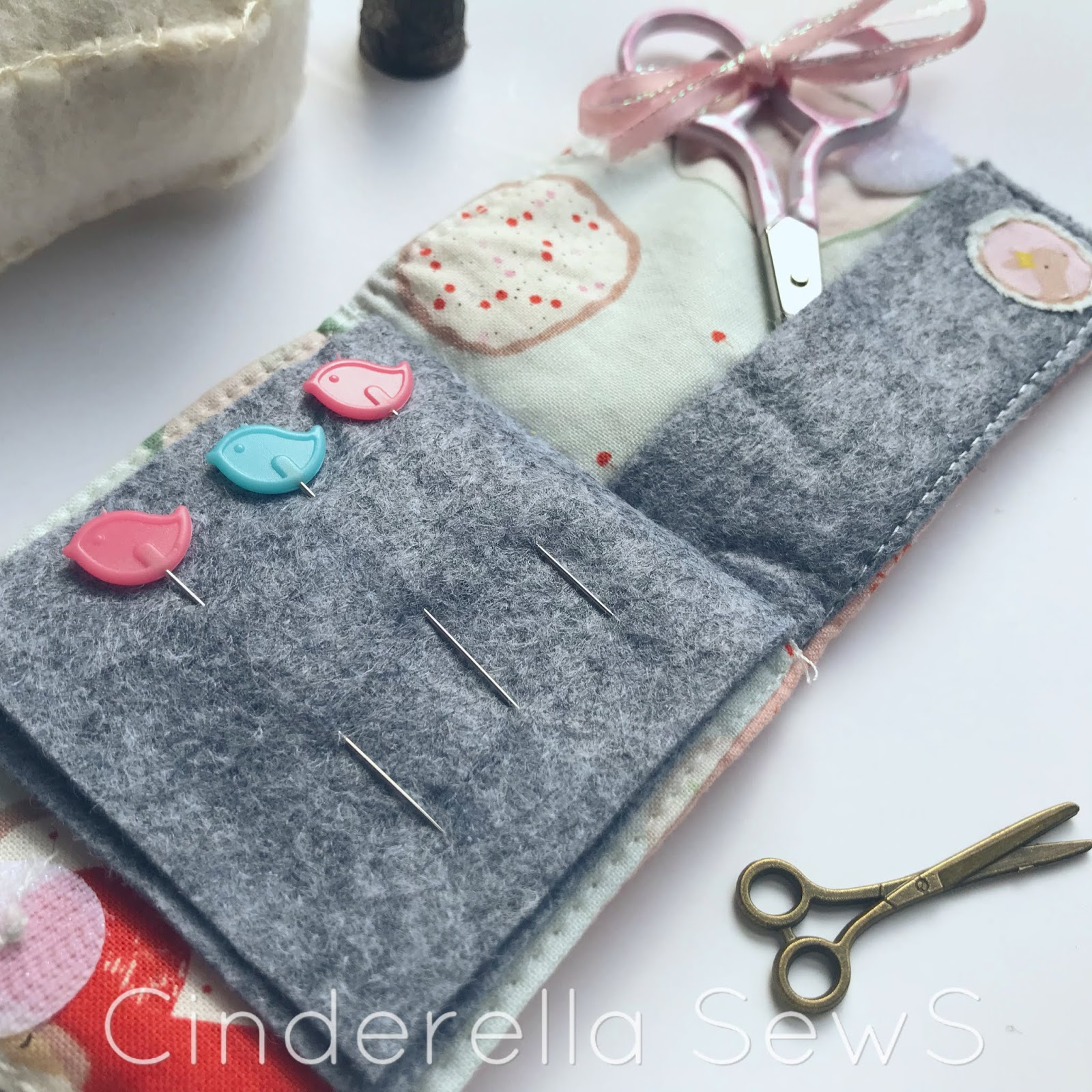 Beginner patchwork needle book tutorial cinderella sews make this easy needle book as a gift or for yourself with some special scraps or solutioingenieria Choice Image