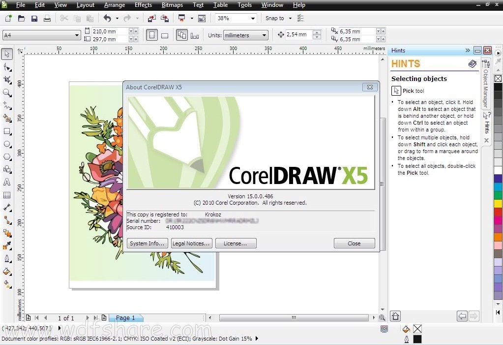 corel draw x5 universal activation code
