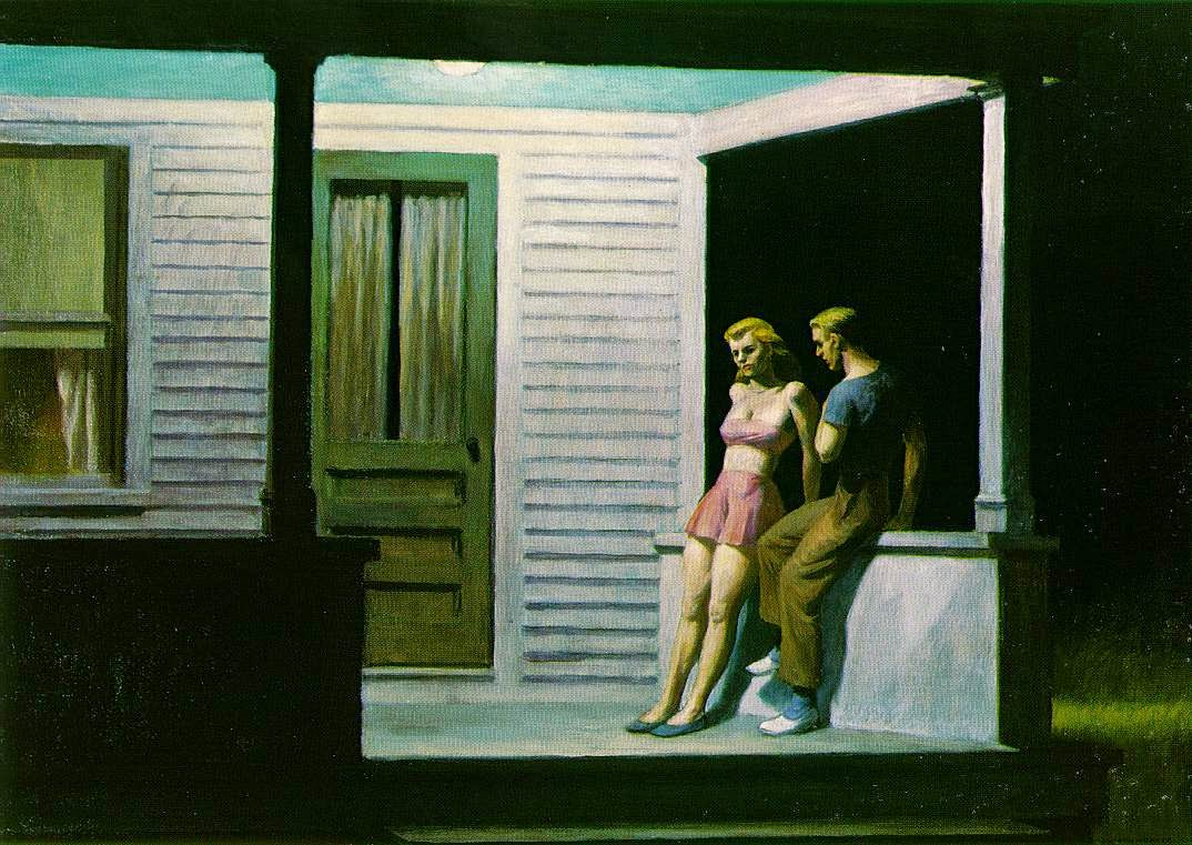 Noite de Verão - Edward Hopper e suas principais pinturas ~ O pintor da solidão
