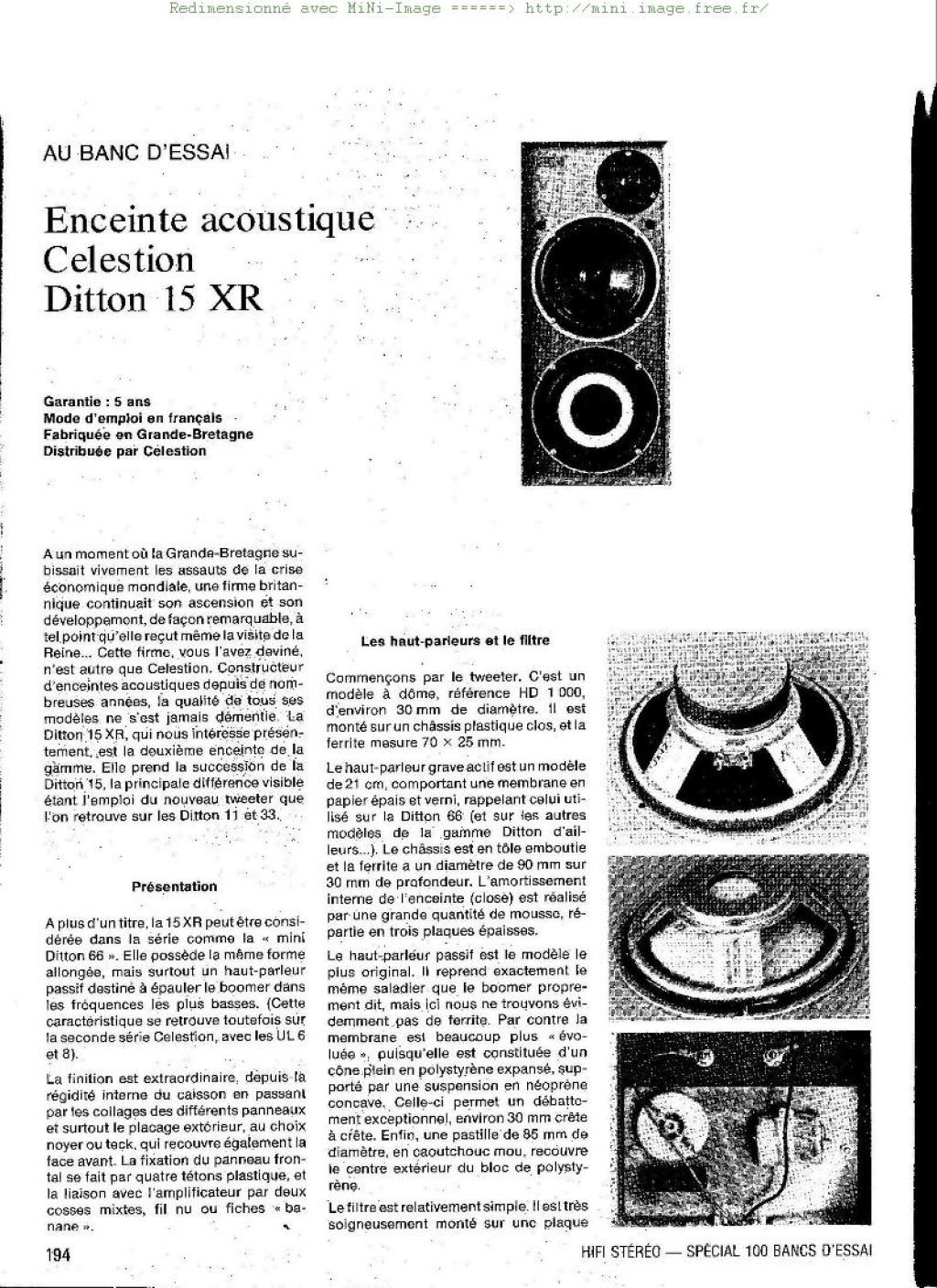 Infrequent Sound Tex Technology Celestion Ditton 15