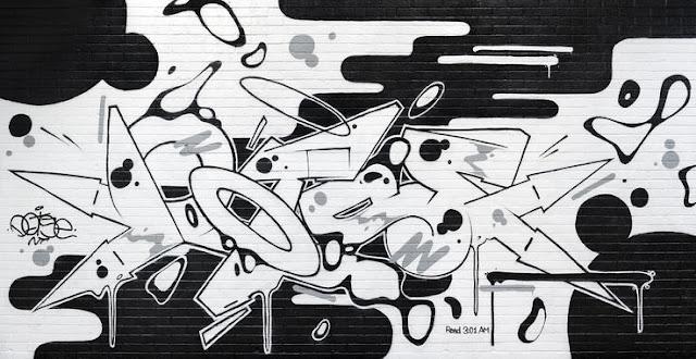 Graffiti tapetti musta valkoinen
