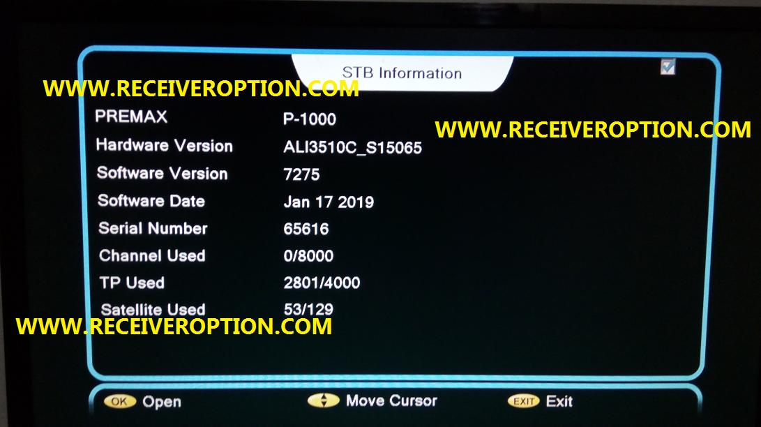 Coronet Satellite Receiver Software