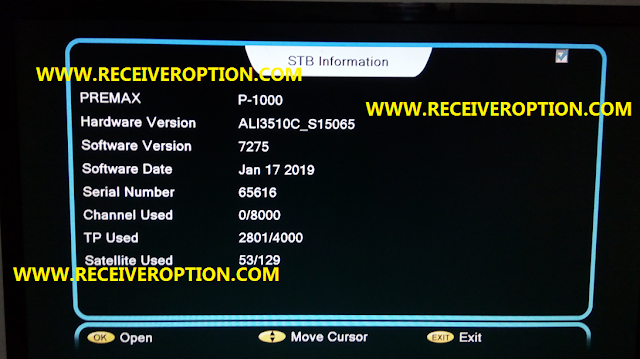 PREMAX P1000 HD RECEIVER AUTO ROLL POWERVU KEY NEW UPDATE