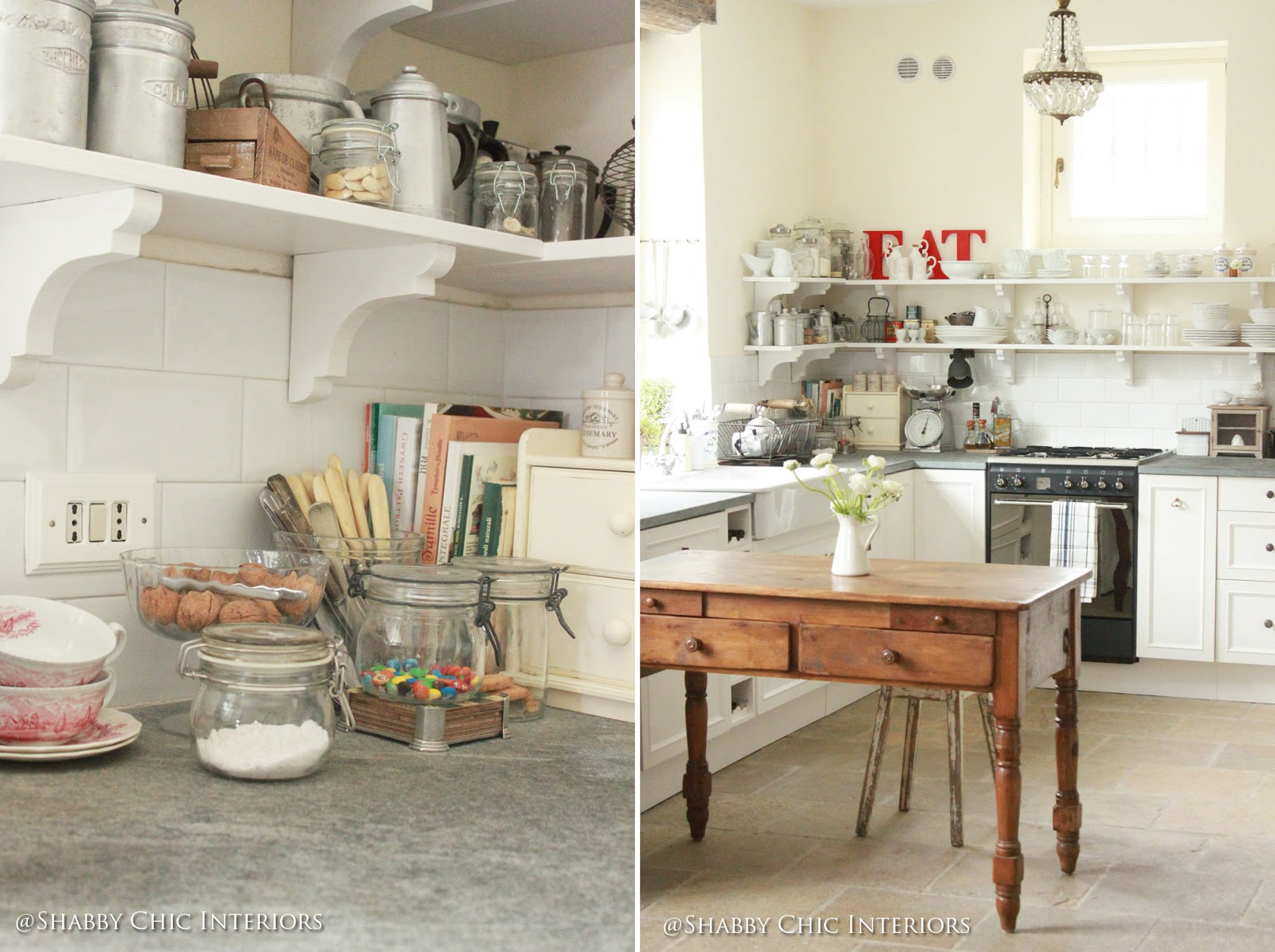 Restyling di una cucina ikea shabby chic interiors - Cucina country chic ...