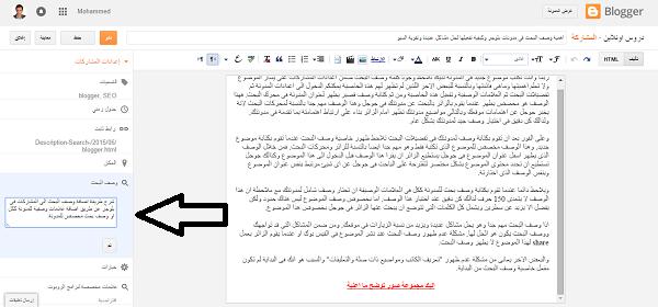 شرح 5: كيفية تفعيل وصف البحث فى مدونات لحل مشاكل عديدة وتقوية السيو 1