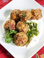 Persian Lamb Meatballs with Mint Raisin Pesto (GF) (DF) خوشمزه - لذیذ