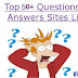 Free Best  new update Question and Answer Sites List