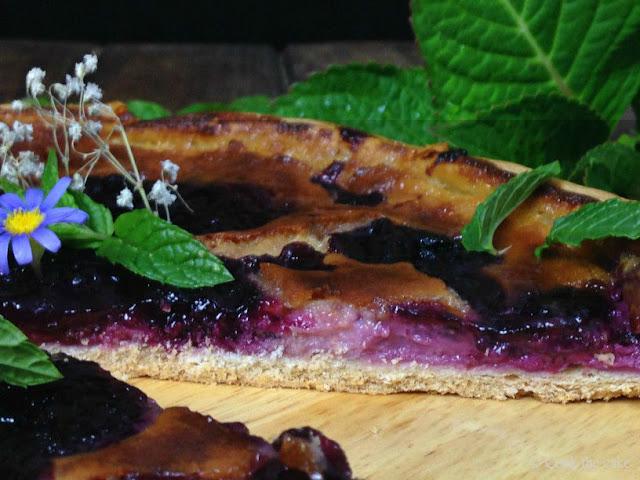quark-blueberry-galette, galette-de-queso-y-arandanos