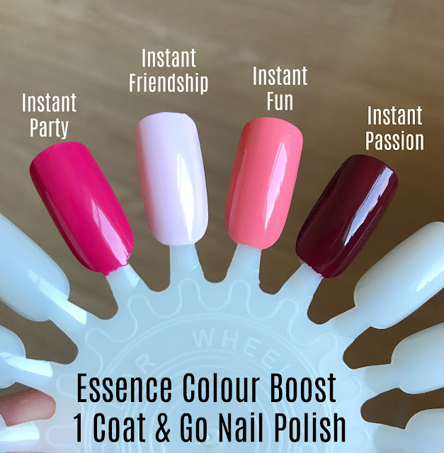 Essence Colour Boost High Pigment Nail Polish - One Coat And Go! Swatches