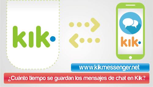 Cuanto tiempo se guardan los mensajes de chat en Kik