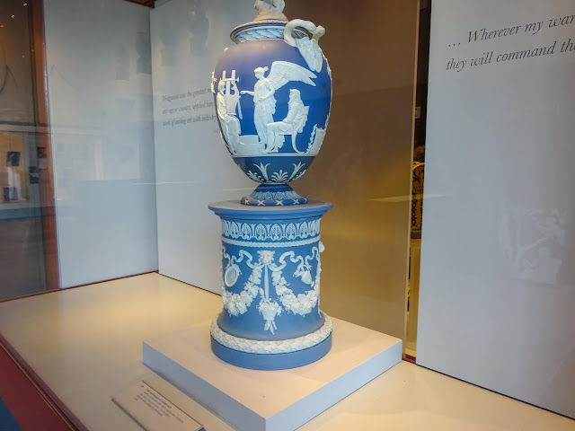 Wedgwood Jasperware Blue Urn
