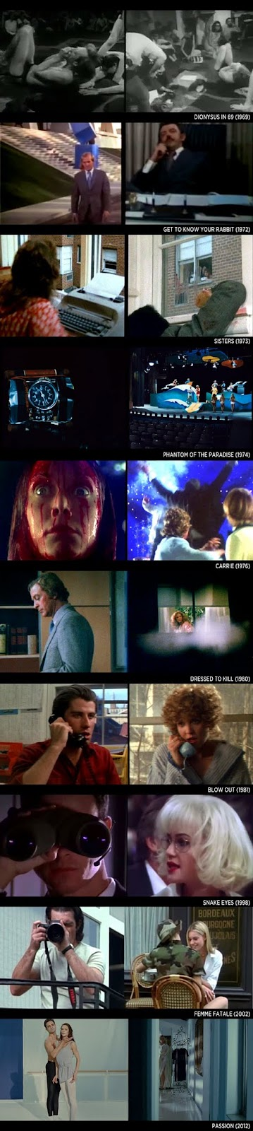 Brian De Palma - Split Screen Shots