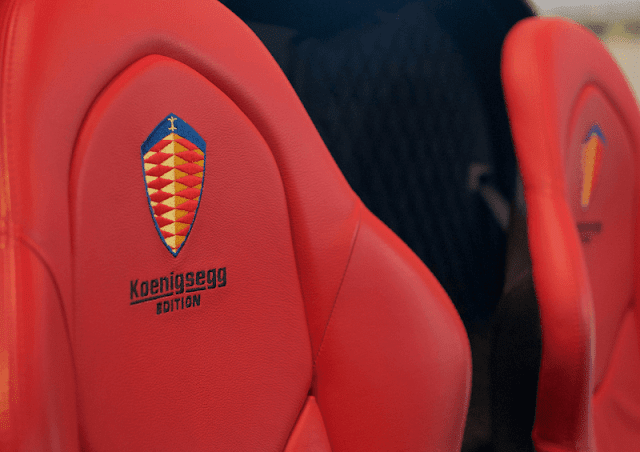 Koenigsegg CCXR Edition seats
