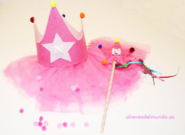 corona fieltro manualidades niños cumpleaños