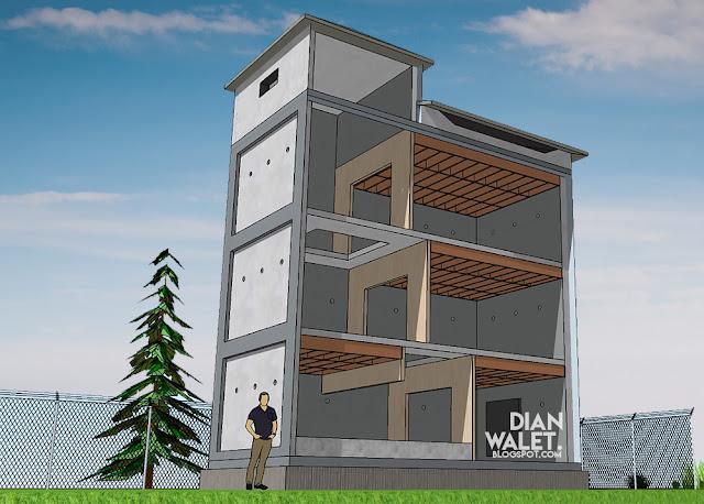 Desain Gedung Walet (RBW) 4X8